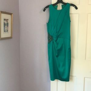 Emerald green cocktail dress by David Meister